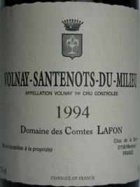 Volnay-Santenots-du-Milieu 1994, AOC